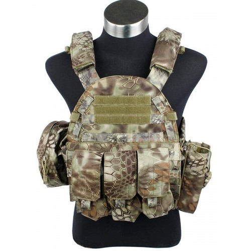 TMC MP94A Modular Plate Tactical Vest with Pouch