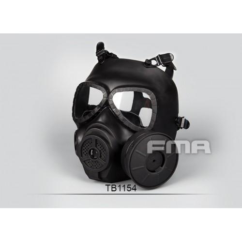 FMA Dummy Toxic Gas Full Face Mask with Fan (Black)