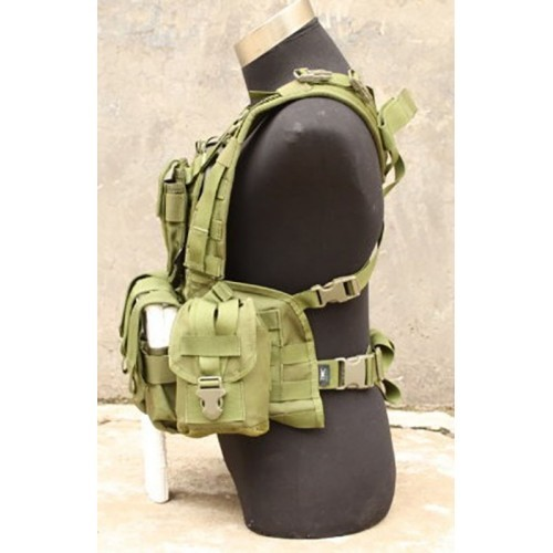 TMC RRV Style Modular Chest Rig with Pouch