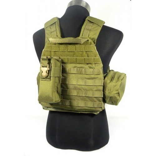 TMC Lightweight Plate Carrier with Pouches B