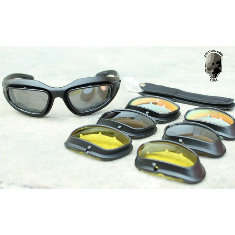 8b09e31ef90 TMC C5 Polycarbonate Low Profile Eye Protection Shooting Glasses Set