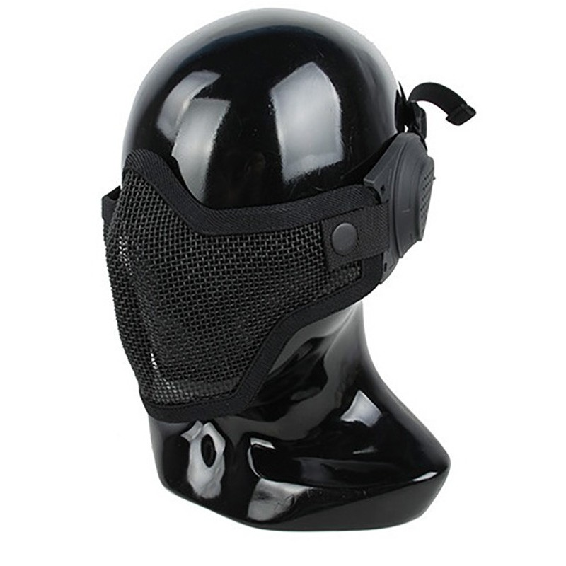 TMC Half Face Metal Mesh Mask with Ear Cover