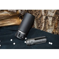5KU QD AAC Style SOCOM MINI Blast Silencer with -14mm CCW Flash Hider