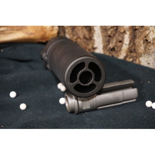 5KU QD AAC Style SOCOM MINI Blast Silencer with -14mm CCW Flash Hider