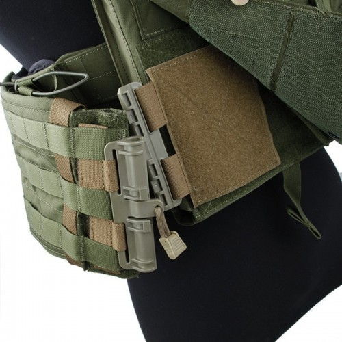 Tactical Mission Unit Quick Release Buckle Adapter for Plate Carrier