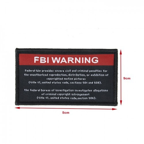 MKUN FBI Warning Patch