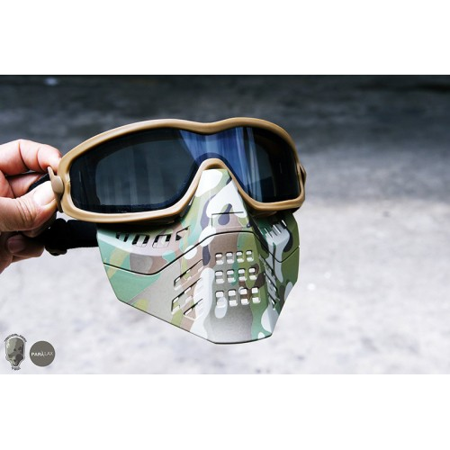 TMC ANSI Z87.1 Impact Rated Goggle with Removable Mask Transparent Len Version
