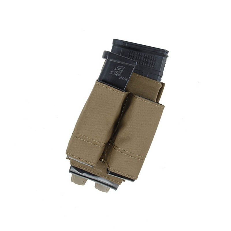 TMC Lightweight 5.56 + Double 9mm Tall PWI Mag Pouch Set