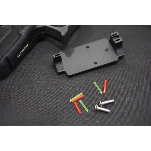 5KU Aluminum RMR Fiber Sight Base Mount for MARUI G Series