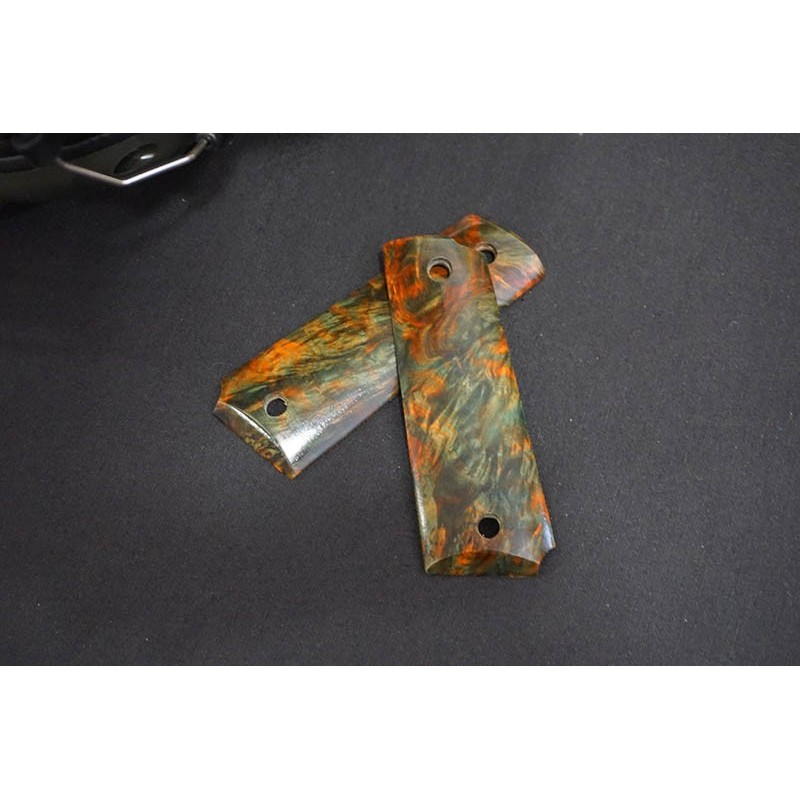 5KU M1911 Stabilized Wood Grip Set