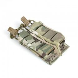 TMC Lightweight 9MM Stackable Double Pistol Pouch