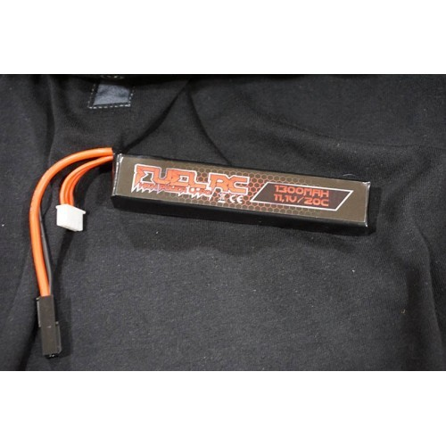 Fuel RC Super Stick 11.V 1300MAH 20C Lipo Battery (12x3x2)