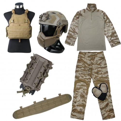 TMC Full Set (Uniform / Saber PC / Belt / SF Helmet / Pouch)