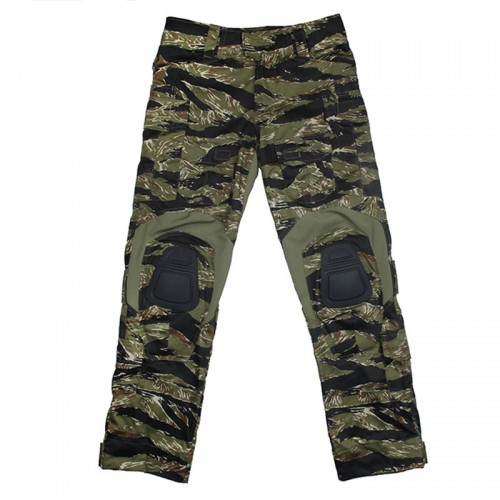 TMC Gen3 Original Cutting Combat Trouser with Knee Pads (Green Tiger Stripe)