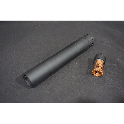 RGW Airsoft 9mm Obsidian 14mm CCW Silencer