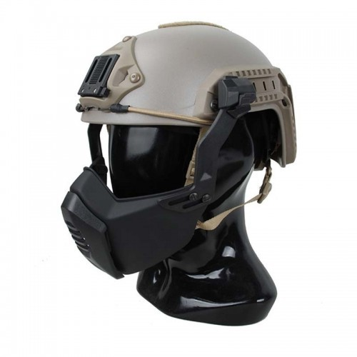TMC Lightweight Polymer Protection Mask Adapter for Helmet Rail
