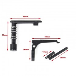 CYMA Metal Mag Release and Bolt Catch for AR Series
