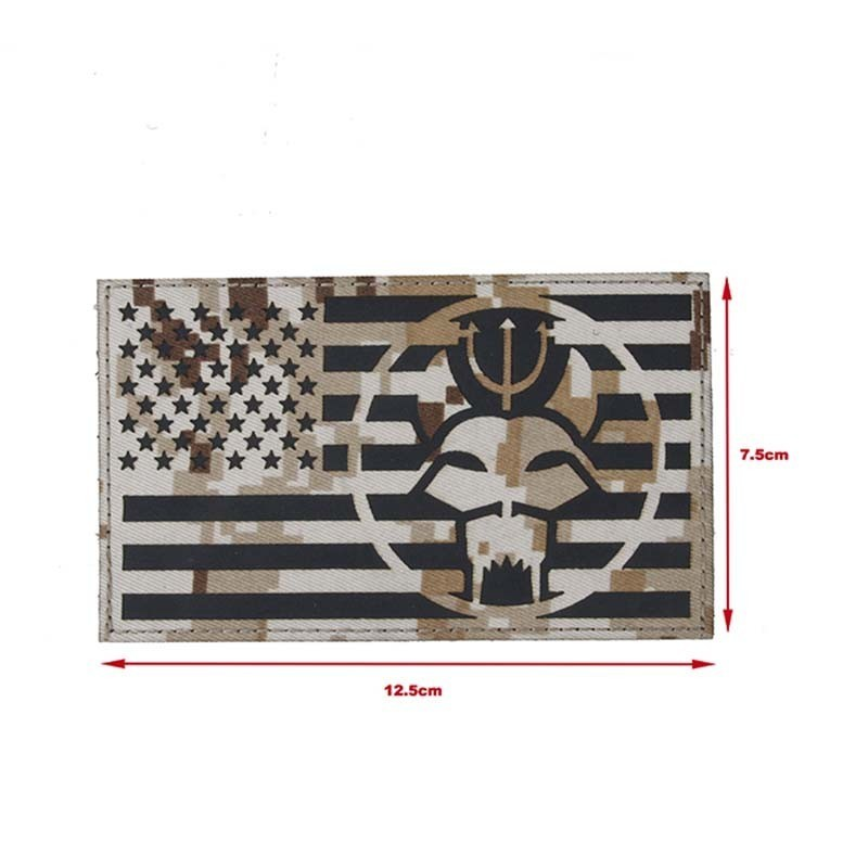 TMC Large Size Navy Seals American Flag Patch