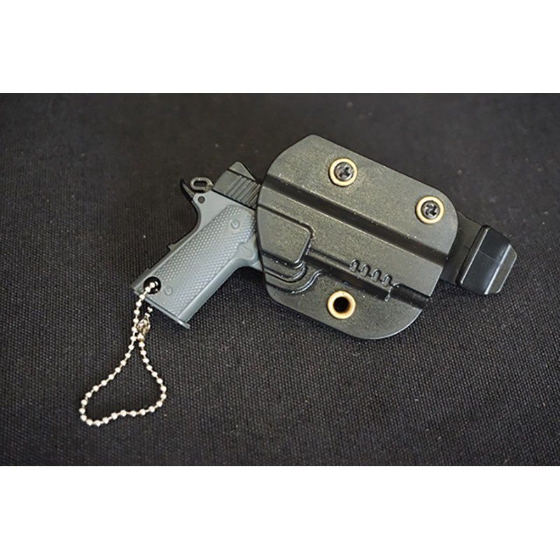 WIJQI 1:6 M1911 Pistol Movable Key Chain with Kydex Holster