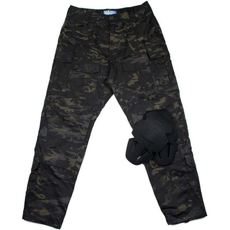 TMC Gen3 Camo Basic Field Pants with Inner Knee Pads (Multicam Black)