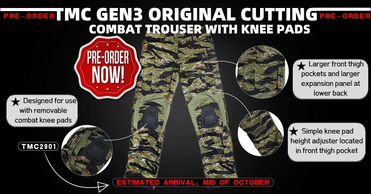 TMC Gen3 Combat Trouser Green Tiger Stripe